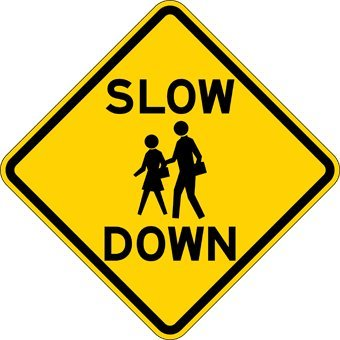 Slow Down Signs >> Amazon Com Slow Down With Image Of School Children Warning Signs