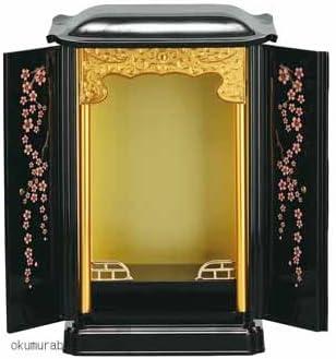 桜の蒔絵入り◆厨子型仏壇 ミニ仏壇 小さい仏壇をお探しの方◆幅28㎝高さ41㎝