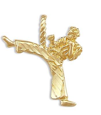 Jewel Tie Karate Kid Ninja Kick Colgante 14 K Oro Amarillo ...