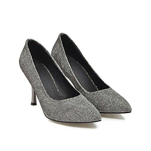 QIN&X Stiletto Femmes Hauts Talons Chaussures Chaussures Bouche Peu Profonde Black
