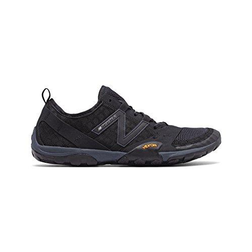 New Balance Men's MT10V1 Minimus Trail Running Shoe, Black/Silver, 14 2E US