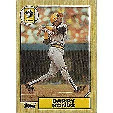 - 1987 Topps Barry Bonds Rookie Card #320 in Protective Display Case