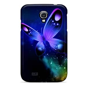 Premium [bMC1717-wLh]butterfly Lights Case For Galaxy S4- Eco-friendly Packaging