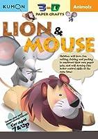 Animals Lion & Mouse (Kumon 3-d Paper