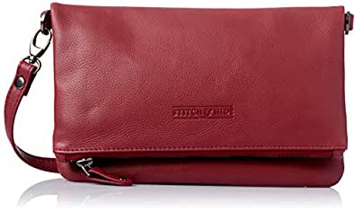 Stitch & Hide Women's Piper clutch bag Cross-Body Handbags, Cherry, One Size