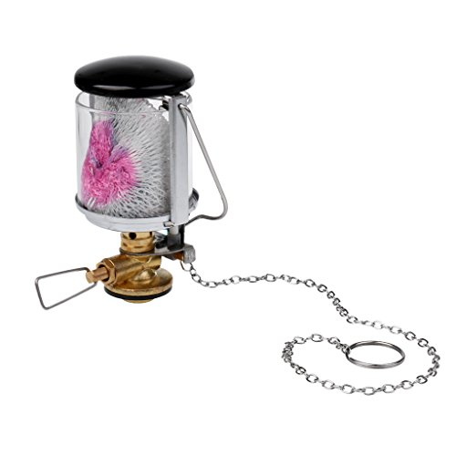 MagiDeal Portable Mantle Gas Propane Lantern Tent Lamp Hanging Glass Light with Key Chain for Outdoor Camping Accessory by MagiDeal