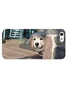 3d Full Wrap Case For Iphone 4/4S Cover Animal Curious Puppy