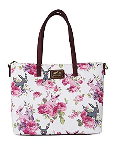 c7881d660686 Loungefly Pokemon Espeon Umbreon Floral Tote Purse
