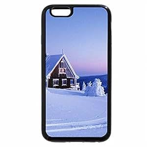 iPhone 6S / iPhone 6 Case (Black) wonderful cabin in the winter