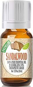 Sandalwood 100% Pure in Jojoba (30%/70% Ratio), Best Therapeutic Grade - 10ml