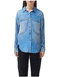 Silk Denim Print Shirt