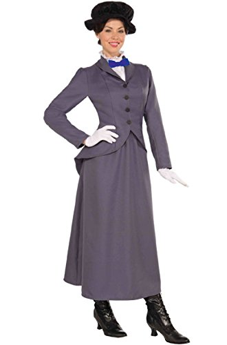English Nanny Costume Plus (English Nanny Maid Adult Costume (XL))
