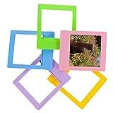 Woodmin 5-Color Tabletop Vertical Slant Plastic