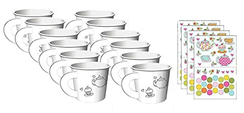 Tea Time Tea Party Decorate Your Own Favor Cups (12 (Tea Party Games)