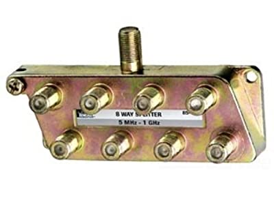 Ideal 85-138 8-Way Digital TV Splitter, 12 MHz-1 GHz Bandwidth