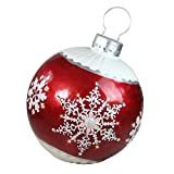 """Northlight 26.5"""" LED Lighted Red Ball Christmas Ornament with Snowflake Outdoor Decoration"""