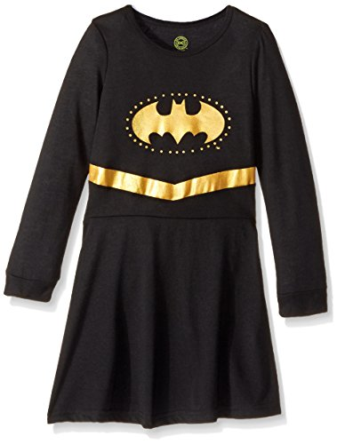 DC Comics Toddler 'Batman Batgirl Princess' Costume Pajama, Black (5t Batman Costumes)