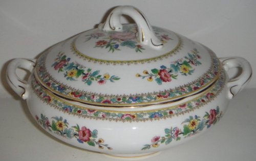Coalport Ming Rose Round Covered Vegetable Bowl W/Lid