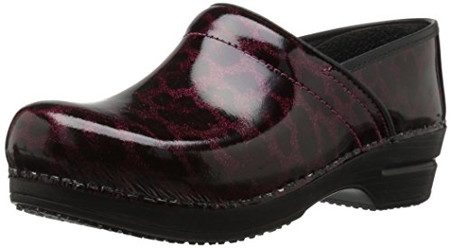 Sanita Women's Smart Step Sylvia Work Shoe, Bordeaux, 36 EU/5.5/6 M US (Clog Patent Red)