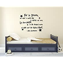 For In Dreams We Enter A World That Is Entirely Our Own Albus Dumbledore Quote Wall Decal Harry Potter Vinyl Wall Decal Stickers Nursery Kids Baby Children Decor