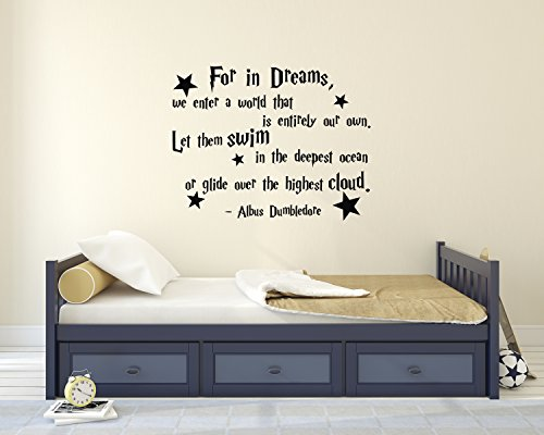 Decalzone Inc for in Dreams We Enter A World That is Entirely Our Own Albus Dumbledore Quote Wall Decal Harry Potter Vinyl Wall Decal Stickers Nursery Kids Baby Children Decor