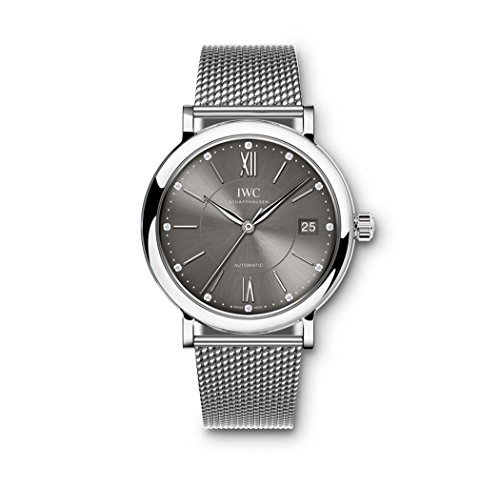 IWC-Portofino-Automatic-Anthracite-Diamond-Dial-Stainless-Steel-Mesh-Unisex-Watch-4581-10