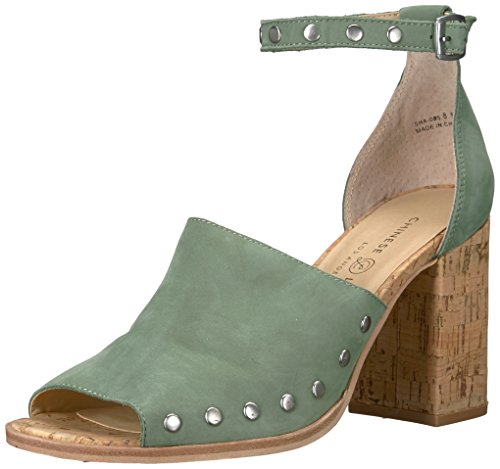 (Chinese Laundry Women's Savana Heeled Sandal, Basil Leather, 7 M)