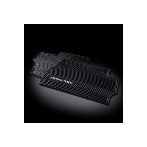 GM # 17803323 Floor Mats - Front Premium All Weather Set - Ebony with Escalade Logo by General Motors