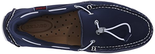 Sebago Mens Kedge Tie In Neoprene Slip-on Mocassino In Neoprene Blu Scuro