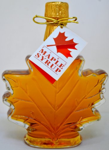 - Pure Maple Syrup in Glass Maple Leaf - 8.45 oz (2 bottles)