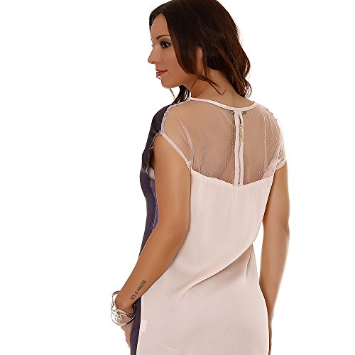 Miss Wear Line - Tshirt satinée avec motif sac en strass et dos rose