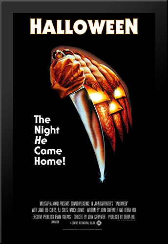 Halloween 28x40 Large Black Wood Framed Print Movie Poster A