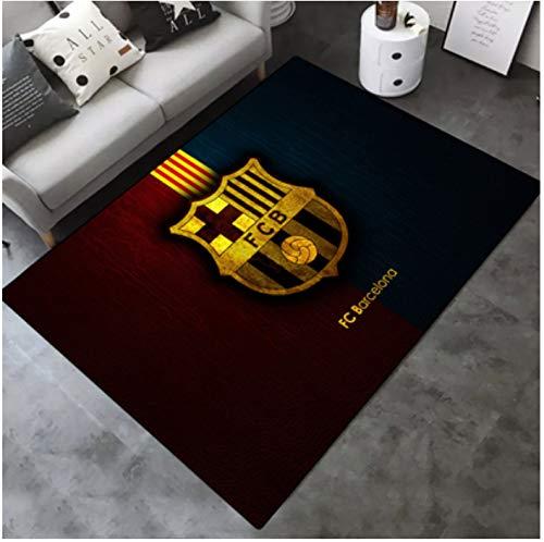 Alfombra Personalidad Futbol Creativo Barcelona Rosa Habitacion Para Ninos Sala De Estar Antideslizante Sofa Mesa De Centro Dormitorio Dormitorio Junto A La Cama Alfombrilla Rectangular 80 * 120 Cm