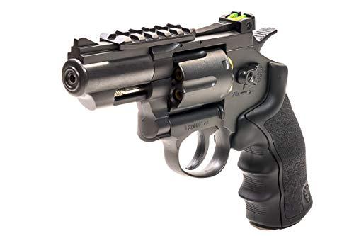 Black Ops Exterminator 2.5 Inch Revolver - Gun Metal Finish - Full Metal CO2 BB/Pellet Gun - Shoot .177 BBs or Pellets
