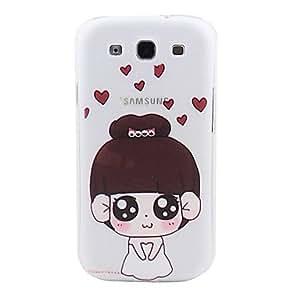 HC- Caricatura de boda del caso duro del patrón con el Rhinestone para Samsung Galaxy S3 I9300