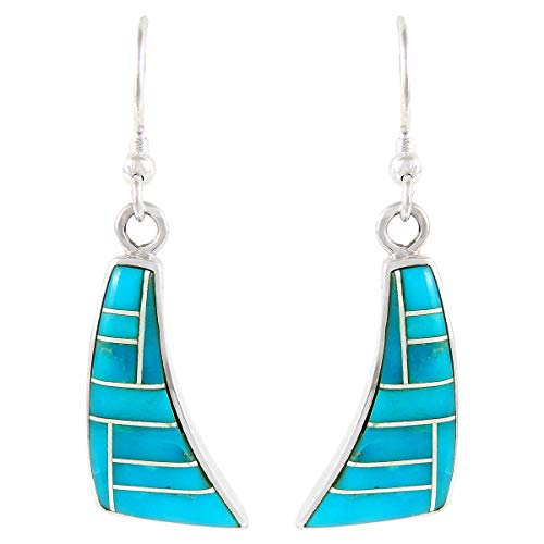 Turquoise Earrings 925 Sterling Silver Genuine Turquoise Select style