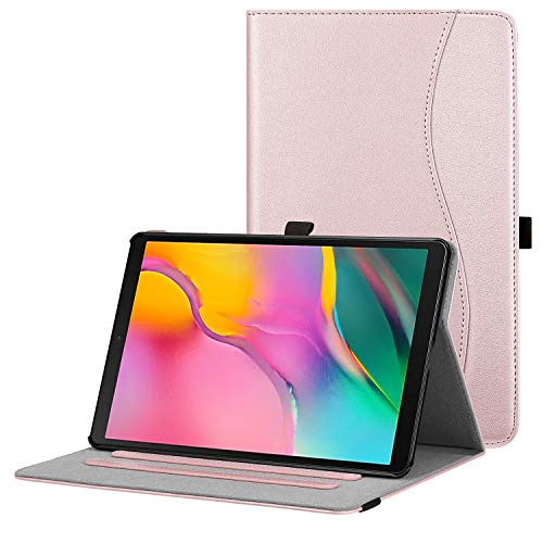 Fintie Case for Samsung Galaxy Tab A 10.1 2019 Model SM-T510(Wi-Fi) SM-T515(LTE) SM-T517(Sprint), Multi-Angle Viewing Stand Cover with Packet, Rose Gold
