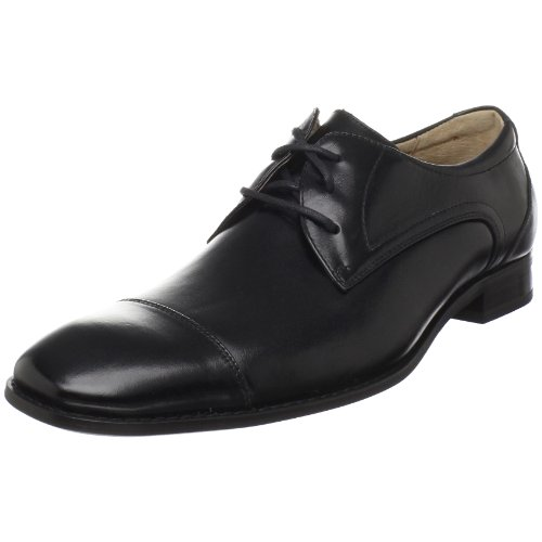Stacy Adams Mens Welling Cap-toe Oxford Nero