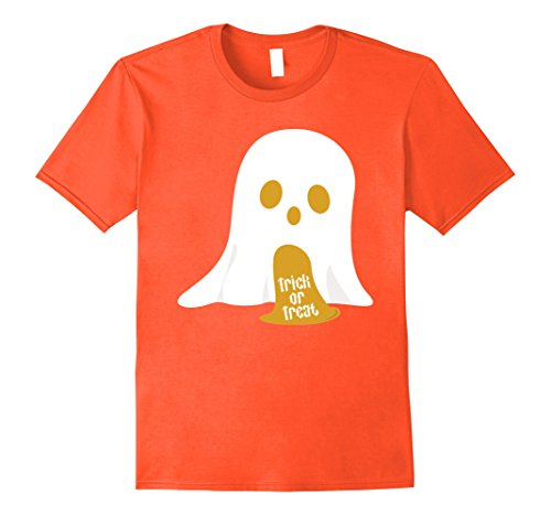 Mens Ghost Freaky Trick Or Treat Halloween Costume Party T-Shirt Small (Freaky Halloween Costumes For Men)