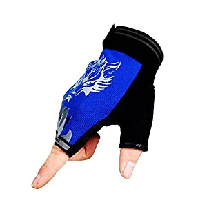 Freehawk Non-Slip Ultrathin Children Half Finger Bicycle Cycling Breathable Gloves Roller-skating Gloves for Fishing, Hunting, Racing, Cycling, Roller Skating and Climbing in Summer from Freehawk