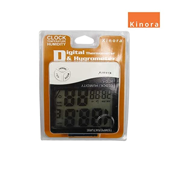 HTC-1 - BFHTC-1Humidity Time Display Meter with Alarm Clock, Wall Mount or Table Top, Multicolour 2