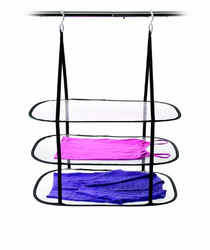 HOMZ Hanging Sweater Dryer, 3 Tier Drying Surface, Stackable, 10Lb Capacity