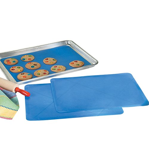 Reusable Silicone Baking Sheet Liners - Set of 3 (Silicone Baking Sheet Liners compare prices)