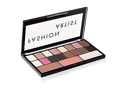 Swiss Beauty 30g Fashion Artist Eyeshadow and Blusher Palette - 16 Eyeshadow, 1 Bronzer, 1 Blusher, 1 Highlighter(ColourSet-01) Make-up Palettes at amazon