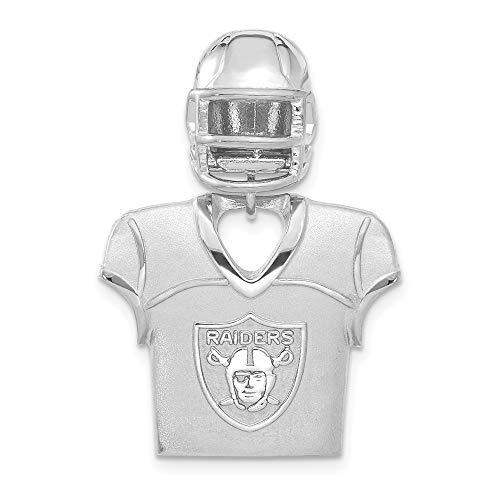 Sterling Silver Oakland Raiders Jersey & Helmet Pendant (Oakland Pendant)