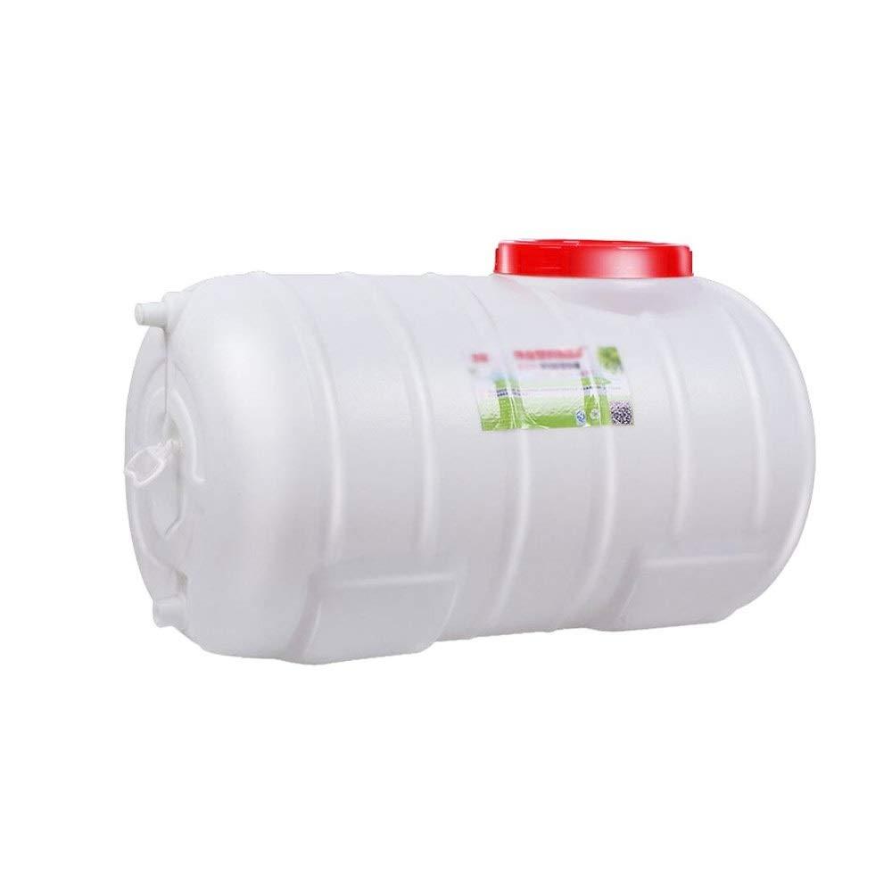 Tanque de agua Ronda Horizontal De Almacenamiento De Agua De Pl/ástico Cubo Exterior del Hogar Grande De Almacenamiento Anti-Edad con El Grifo Y 2M del Tubo De Agua Size : 100L