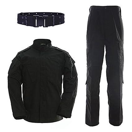 QMFIVE Uniformes tácticos Camuflaje Camo Camo Combat BDU Chaqueta Camisa y Pantalones Uniforme Juego de Guerra Ejército Paintball Militar Airsoft Caza ...