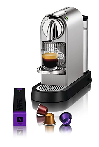 Nespresso Citiz C111 Espresso Maker with Aeroccino Plus Frother, Chrome
