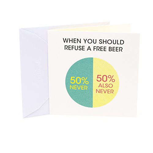 Hallmark Studio Ink Birthday Card or Father's Day Card (Free Beer)