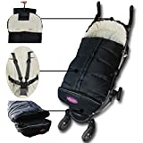 Cozy Baby Sleeping Bag, Stroller Footmuff, 5 Way Zippers Style For Baby Easy In&Out, Extenson Footwear Fit Baby Grows